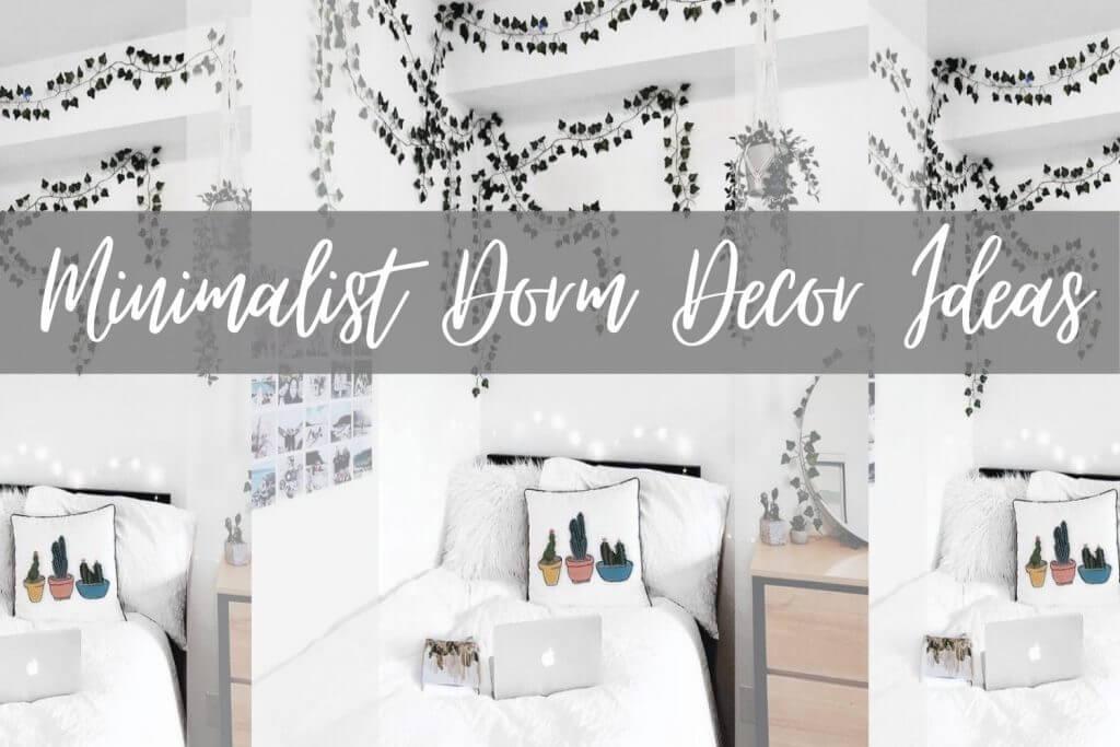 minimalist dorm room