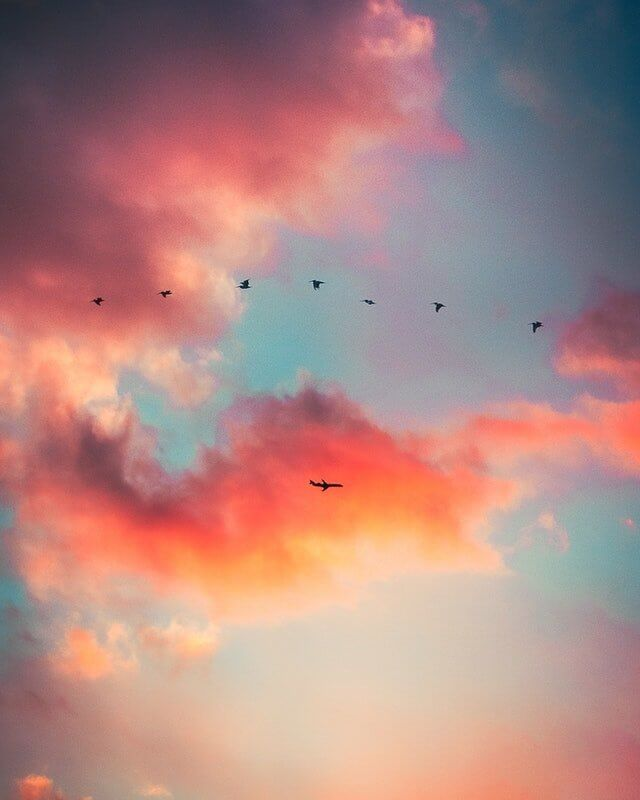 wallpaper aesthetic backgrounds with clouds
