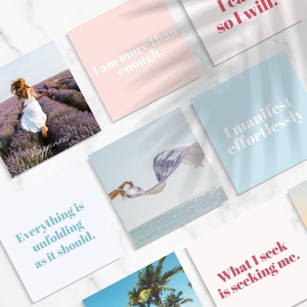 vision board affirmation cards