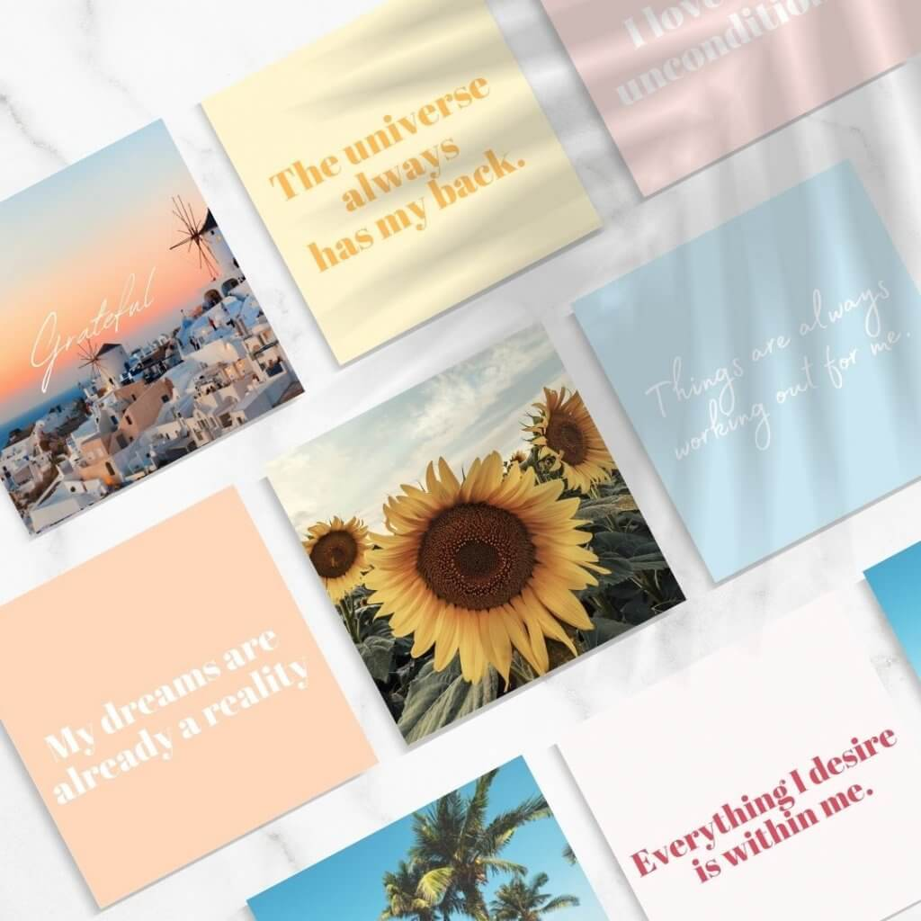 affirmation cards for women